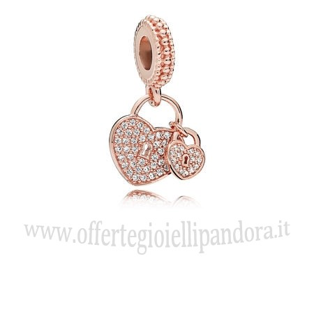 Scontati Pandora Amore Locks Dangle Charm Rose Chiaro Rivenditori