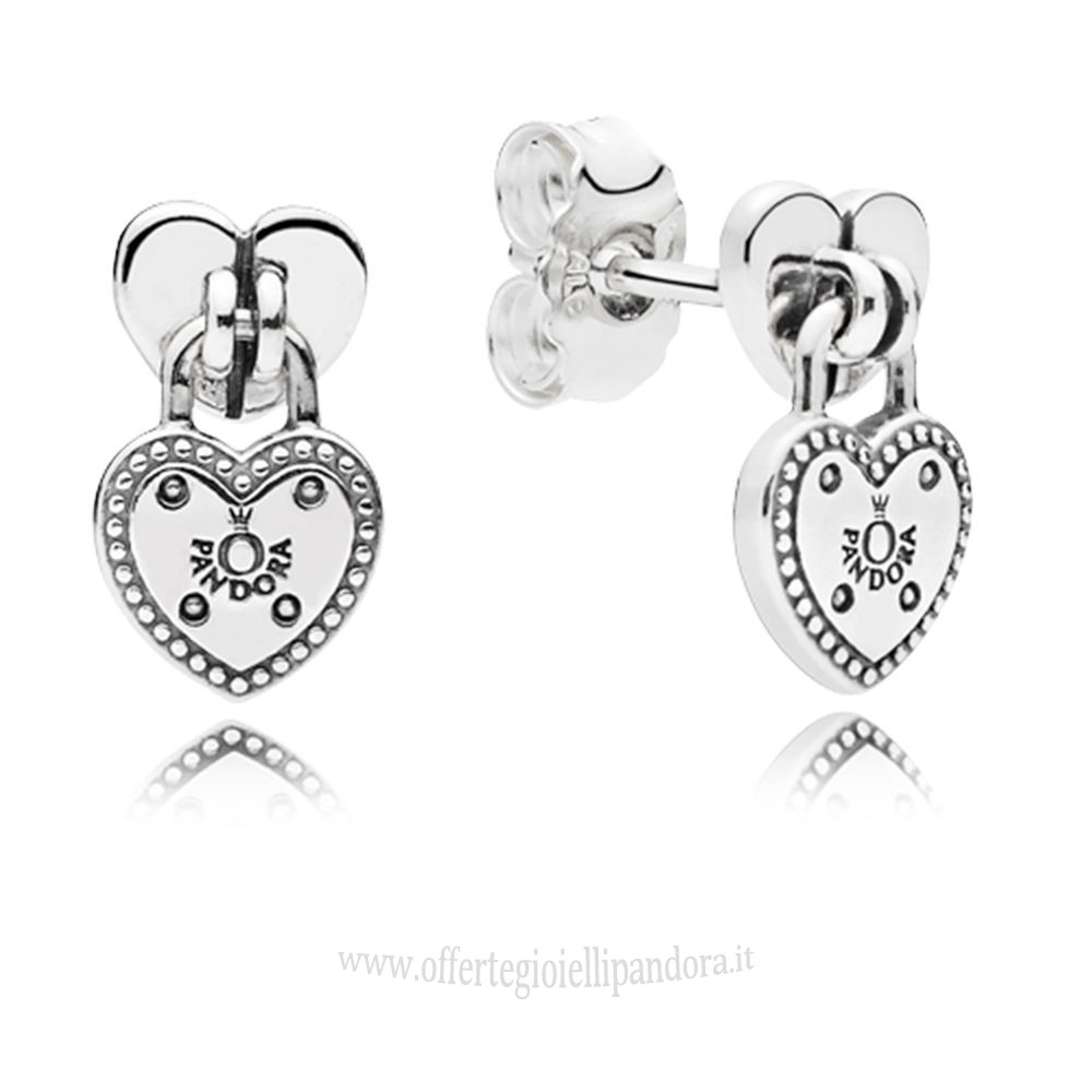 Scontati Pandora Amore Locks Stud Earrings Rivenditori