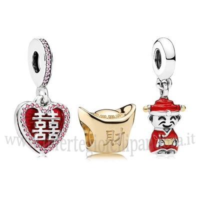Scontati Pandora Happiness Fortune And Luck Charm Pack Rivenditori