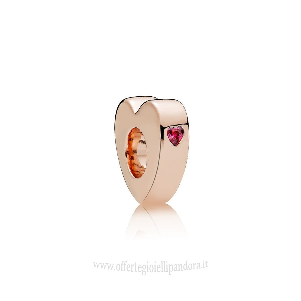 Scontati Pandora Two Cuores Spacer Rose Red Rivenditori